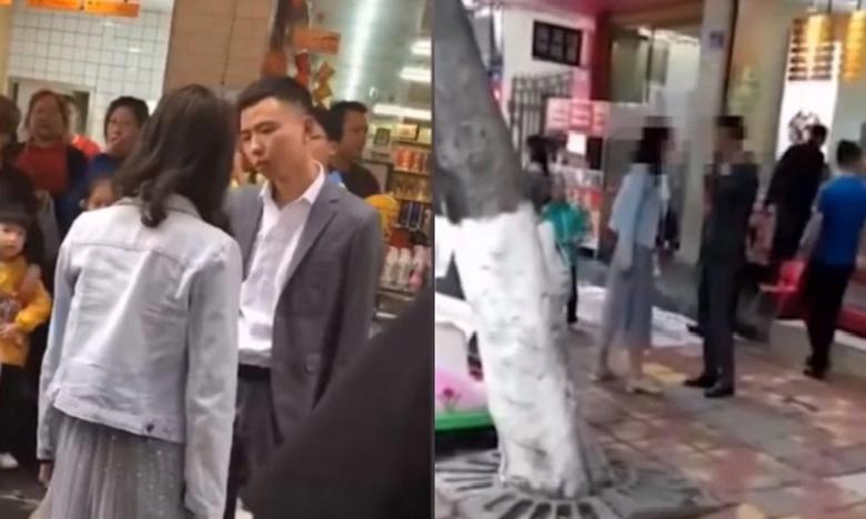 "Man in China gets slapped 52 times in public by girlfriend on Chinese ""Valentine's Day"", ""లవర్స్ డే"" రోజు ఫోన్ కొనివ్వలేదని… బాయ్ ఫ్రెండ్ చెంపలను.."