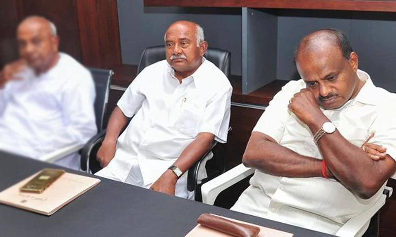 jds leader quits karnataka alliance runs into trouble, కర్ణాటకలో అప్పుడే ముసలం.. షాకిచ్చిన జేడీ-ఎస్