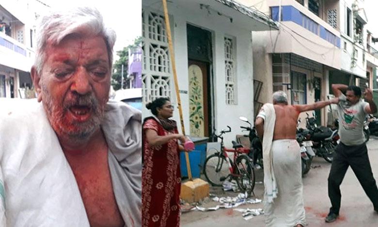 Son attacks his father for property in Tirupati, కోడలు కారం చల్లింది..కొడుకు రాడ్డుతో చితకబాదాడు