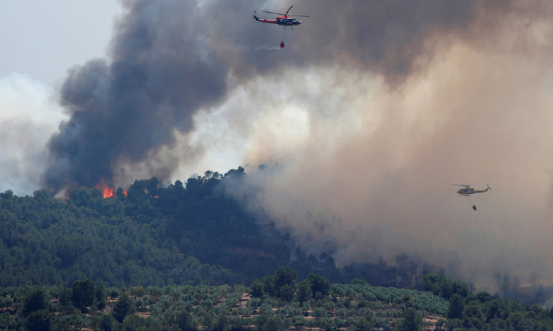 Spain battles major Catalonia wildfire, స్పెయిన్ అడవుల్లో కార్చిచ్చు.. అగ్నికి ఆహుతైన వేల ఎకరాలు