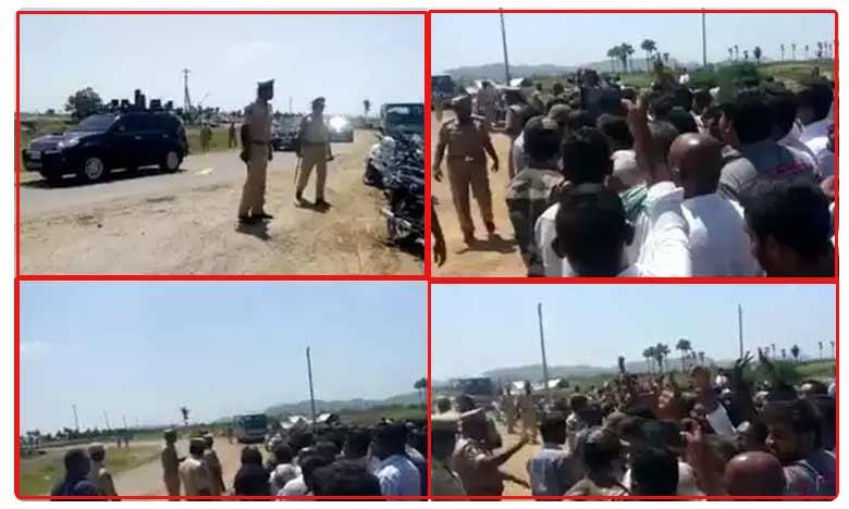 Farmers protest against CM YS Jagan over Amaravati capital city