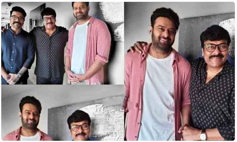 Prabhas Met Chiranjeevi and Ram Charan At Saira Teaser Launch