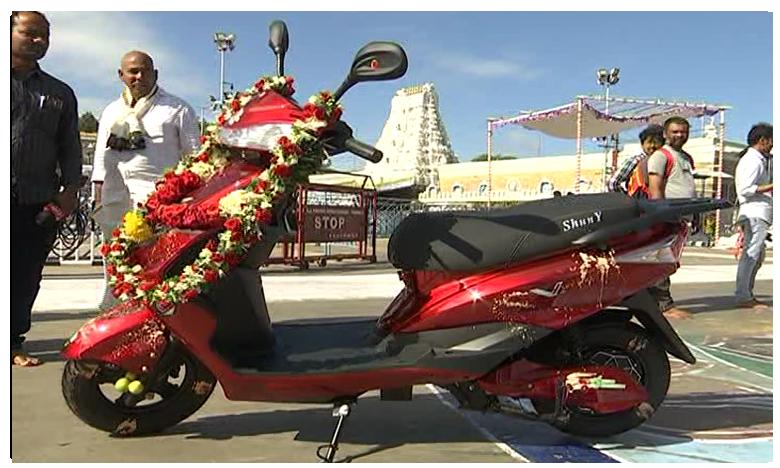 Bangalore Devotee Donates Two Wheeler To Lord Balaji
