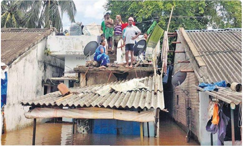 floods continue to battle polavaram villages