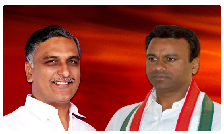 Congress Mla Komatireddy Rajagopalreddy Meets Minister Harish Rao In Telangana Assembly
