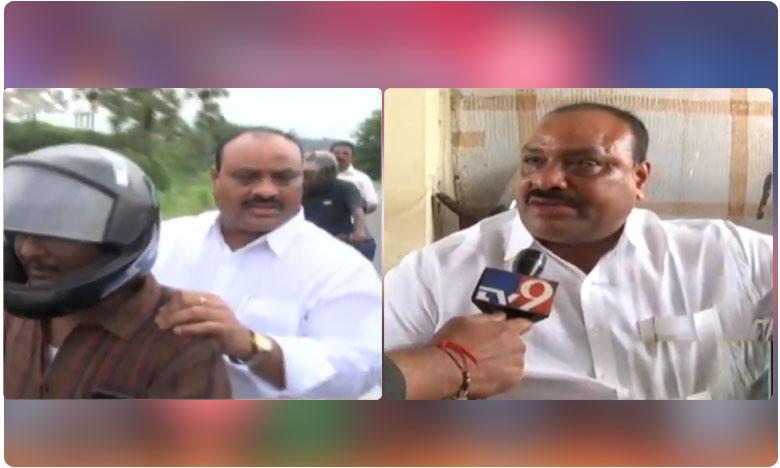 TDP Ex Minister Achennayudu Fire on Guntur Police