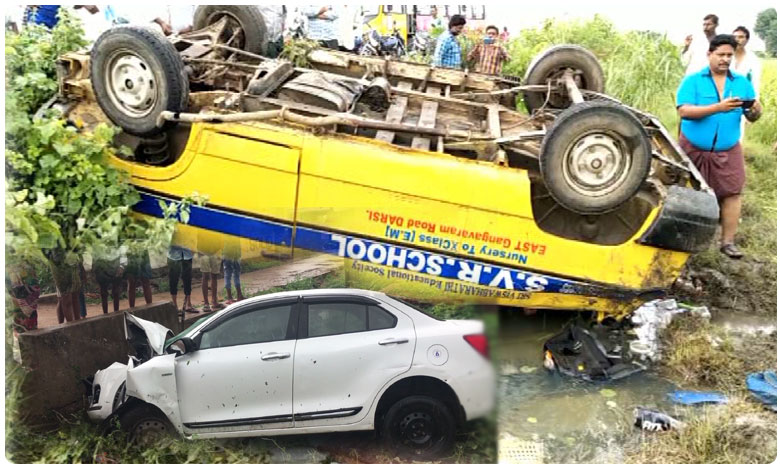 One killed in road accident in different incidents, children injured