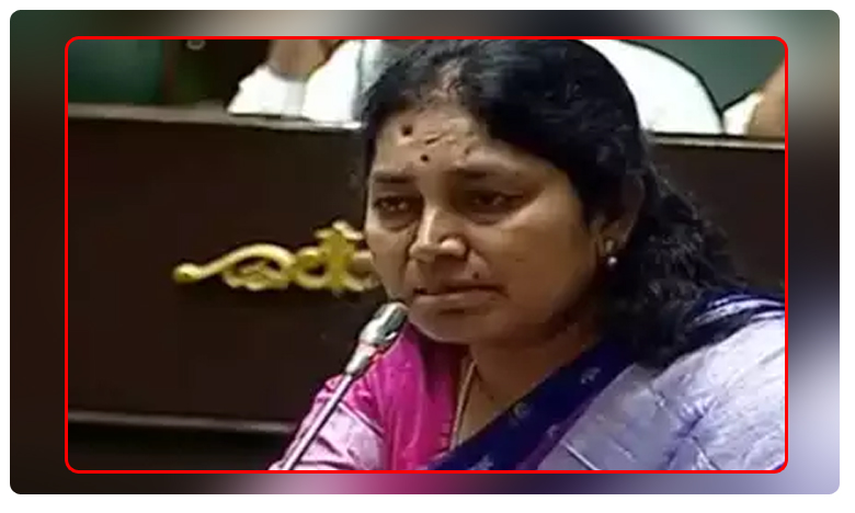 Aleru mla Gongidi suntiha reddy cries assembly while speaking about dialysis patients problems