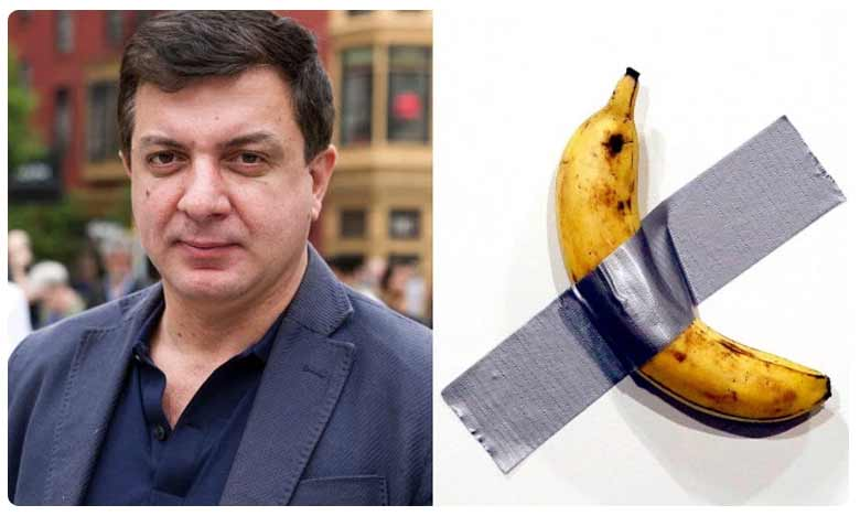 Banana Is Peeled From an Art Exhibition and Eaten, గోడక్కొట్టిన బనానా.. తిన్నాడయ్యా ఫన్నీగా..!