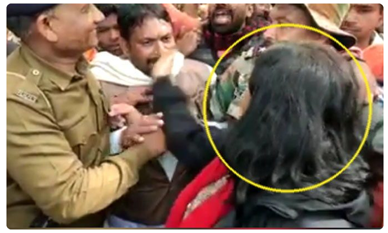 Collector Nidhi Nivedita slaps BJP leader supporting CAA in MP, బీజేపీ నేత చెంప చెల్లుమనిపించిన కలెక్టర్..