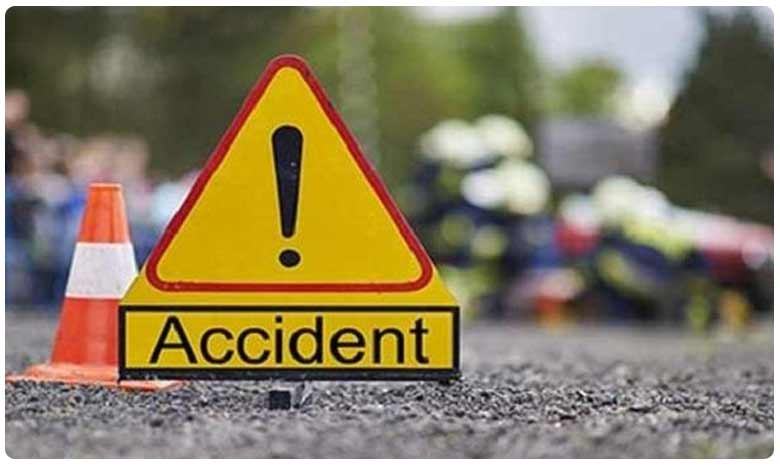 road accident in rangareddy two people died and one injured, మహేశ్వరంలో ఘోర రోడ్డుప్రమాదం..ఇద్దరు మృతి