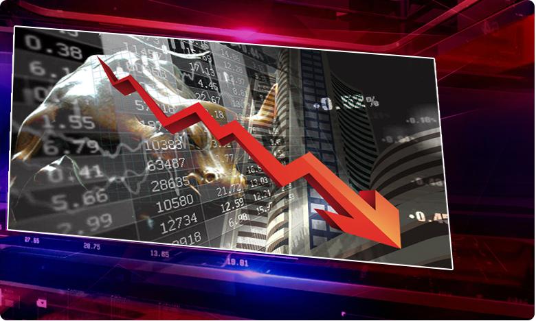 Huge fall in the stock market, స్టాక్ మార్కెట్ లో భారీ పతనం