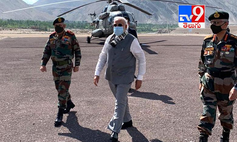 PM Modi, ప్రధాని మోదీ   లడాఖ్ పర్యటన