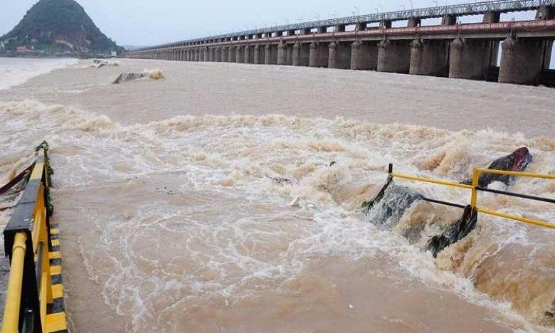 flood flow to nagarjunasagar project, నాగార్జునసాగర్ ప్రాజెక్టుకు వరద ప్రవాహం