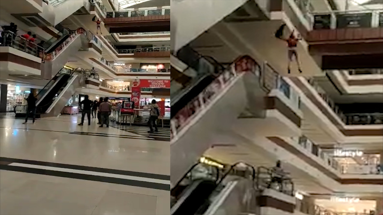 Young woman commits suicide by jumping from shopping mahal, ఇండోర్లో హృదయ విదారక ఘటన