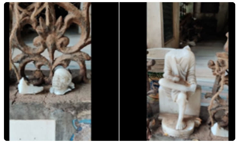 Sai Baba statue Demolition, మరో ఘటన : నిడమానూరులో సాయిబాబా విగ్రహం ధ్వంసం