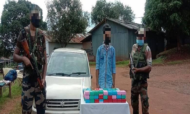 assam rifles recover brown sugar worth over rs 2 cr in manipur, మణిపూర్లో రూ.2.14 కోట్ల విలువైన బ్రౌన్షుగర్ పట్టివేత