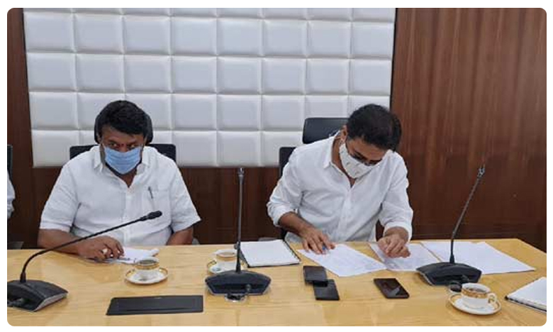 KT Rama Rao reviews flood situation in Hyderabad, వరద సహాయక చర్యలపై కేటీఆర్ సమీక్ష, కీలక ఆదేశాలు