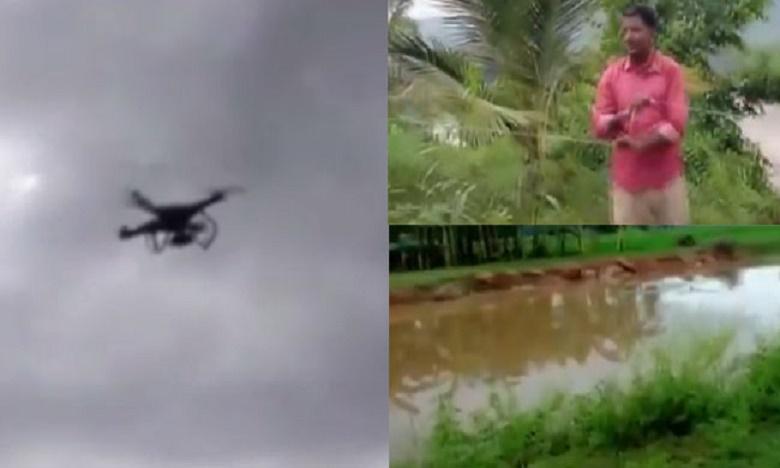Power restoration with the help of drone tuni East Godavari District, డ్రోన్లను ఇలా కూడా వాడొచ్చా..?