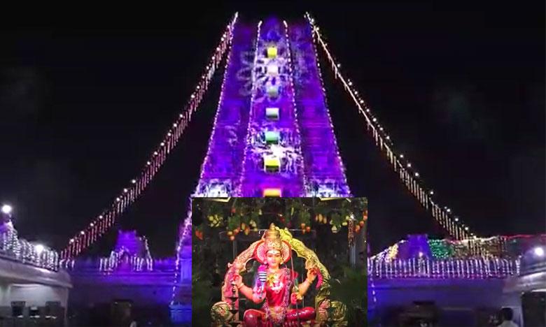 vijayawada durgamma dasara festival starts from today, నేటి నుంచి బెజవాడ దుర్గమ్మ దసరా శరన్నవరాత్రి మహోత్సవాలు