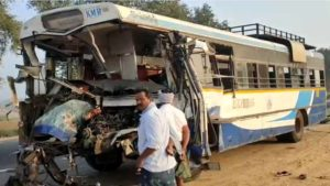 RTC Bus and Lorry Crashed