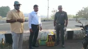 Police Caught Liquor and Non Veg at Srisailam