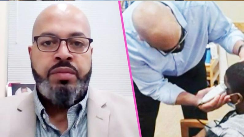 Principal Turns Barber
