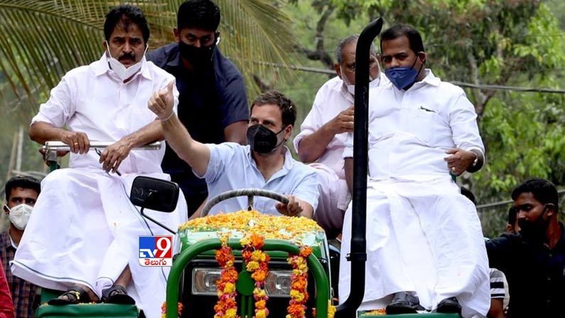 Rahul gandhi leads tractor rally 8 Rahul Gandhi Rides Tractor Photos: Rahul Gandhi turns tractor driver ... Congress leader Rahul Gandhi tractor rally photos in Kerala.  - Rahul gandhi leads tractor rally in kerala Photos