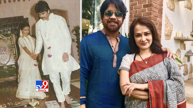 nag amala Valentine's Day Special Photos: Tollywood's top heroes who turned love into marriage ... That bond is today.  - love marriage couples in tollywood photos