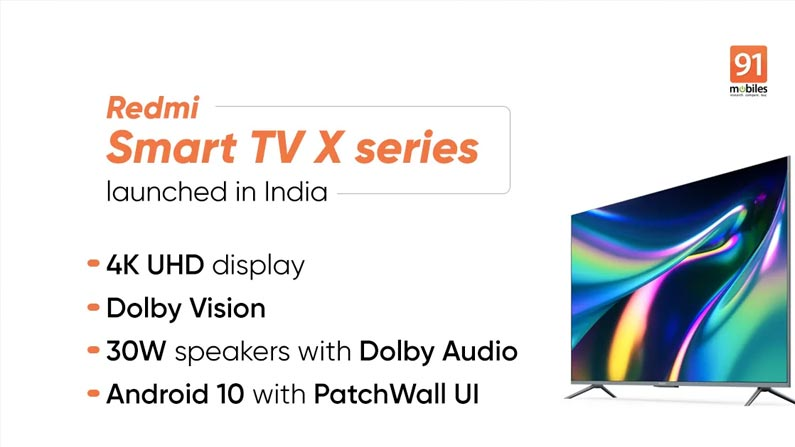 4 48 RedMi Smart TV: Redmi has released three new smart TVs .. If you know the features, you should pay .. - Chinese Company Xiaomi Introduce 3 Different TVs In Redmi In X Series