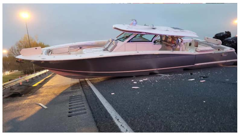 A Boat Blocks Florida Inter State Highway