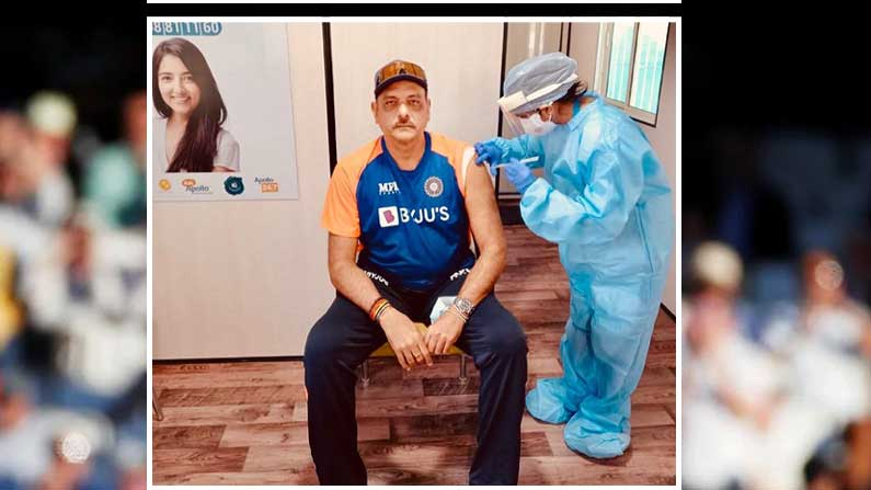 ravi shastr gets 1st dose of covid vaccine