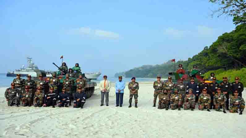 spectacular operational demonstration by Command at Swaraj Dweep